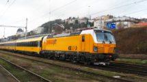 Lokomotiva Vectron, Praha Smíchov společné nádraží, foto: RegioJet