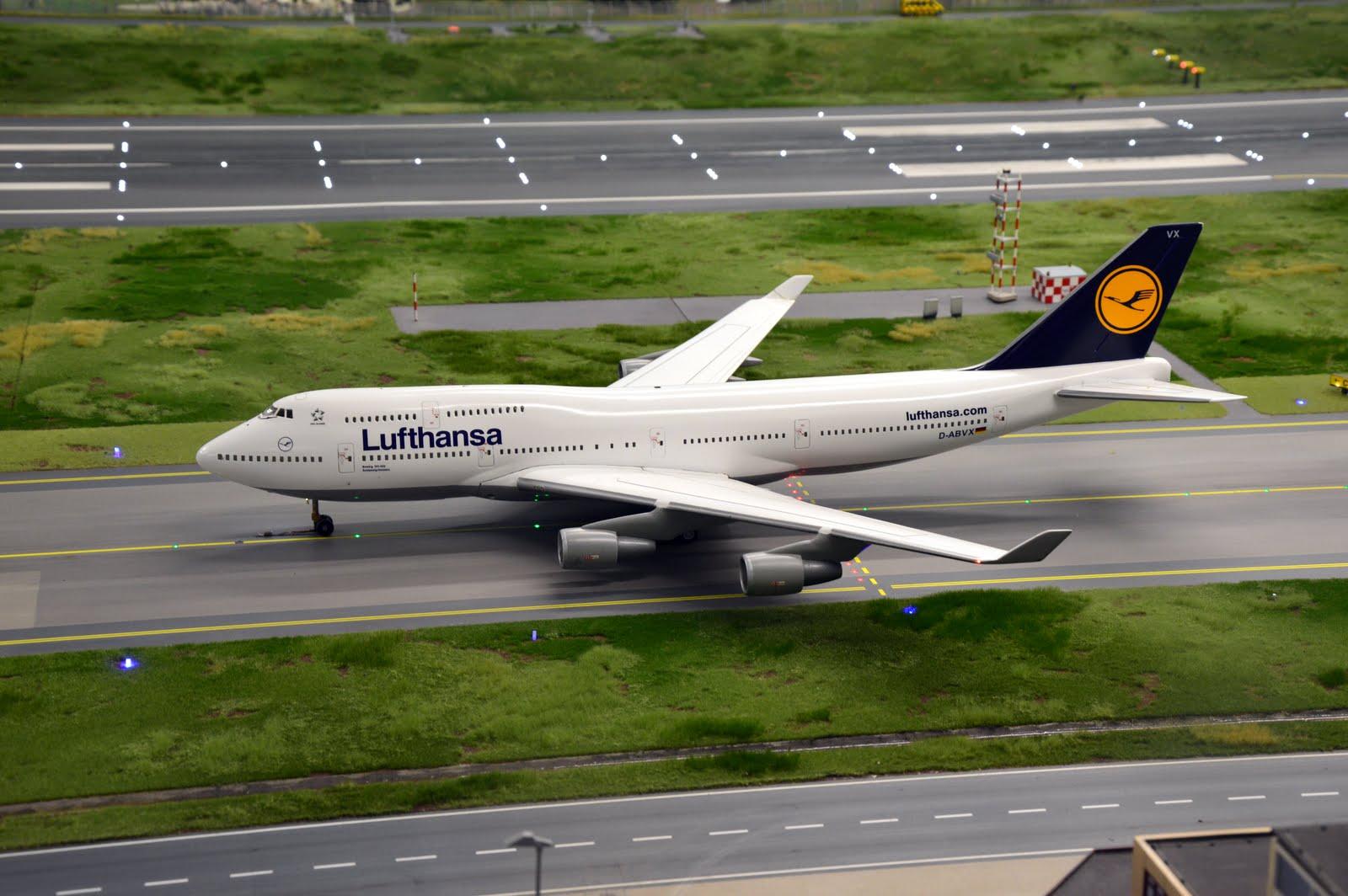 Boeing 747 v barvách Lufthansy nechybí ani v hamburském modelovém světě Miniatur Wunderland. Foto: Jan Sůra