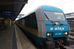 Vlak alex Praha - Mnichov, Regensburg Hbf, foto: Zdopravy.cz/Jan Sůra