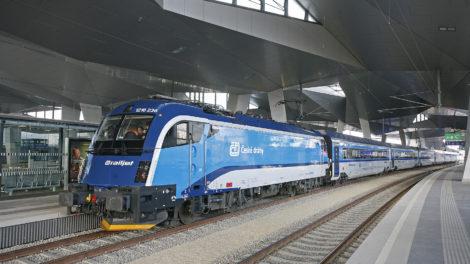 ČD railjet ve stanici Wien Hbf, zdroj: České dráhy