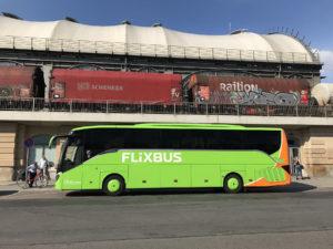 Autobus Flixbus v Drážďanech, foto: Zdopravy.cz/Josef Petrák