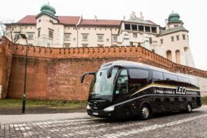 Autobus Scania Irizar, Kraków, foto: LEO Express