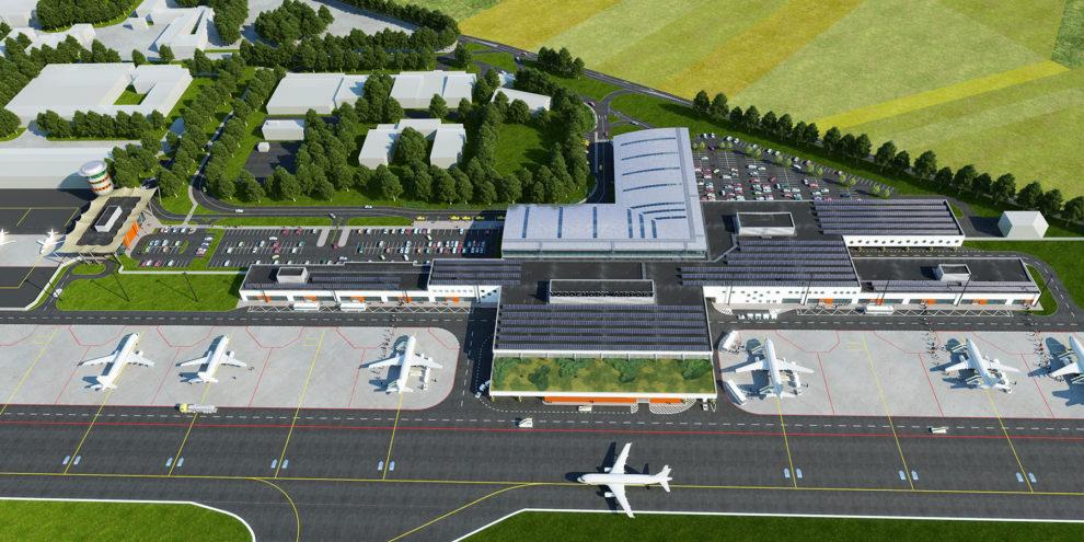 Vizualizace letiště Vodochody, foto: Letiště Vodochody