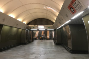 Metro B Náměstí republiky, eskalátory, foto: Zdopravy.cz/Josef Petrák