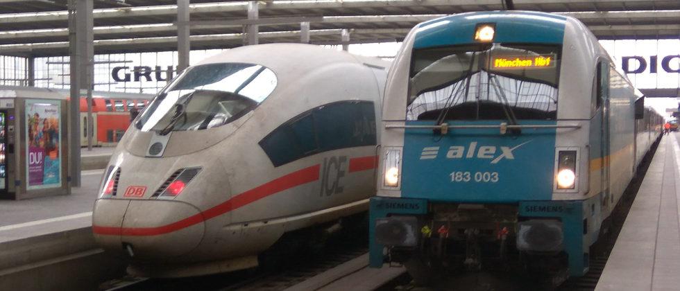 Vlak alex Praha - Mnichov, München Hbf, foto: Zdopravy.cz/Jan Sůra