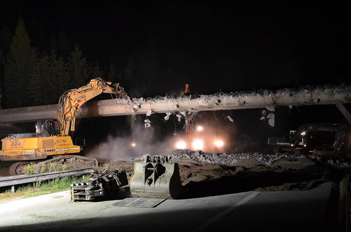 Noční práce na dálnici D1, foto: Ministerstvo dopravy