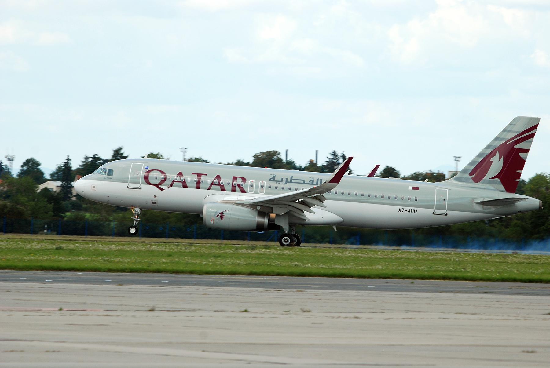 Let QR291 Qatar Airways Doha – Praha poprvé přistává v Praze, foto: Zdopravy.cz/Josef Petrák
