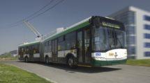 Škoda Electric dodá do Chomutova a Jirkova deset osmnáctimetrových kloubových trolejbusů typu Škoda 27 Tr (na snímku) a pět dvanáctimetrových trolejbusů typu Škoda 26 Tr. Foto: Škoda Electric
