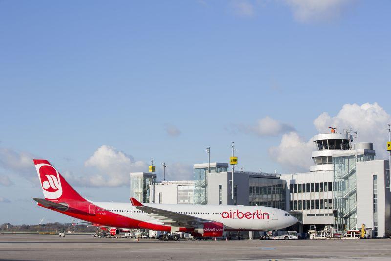 Airbus A330 Air Berlin na letišti v Düsseldorfu. Foto: Air Berlin