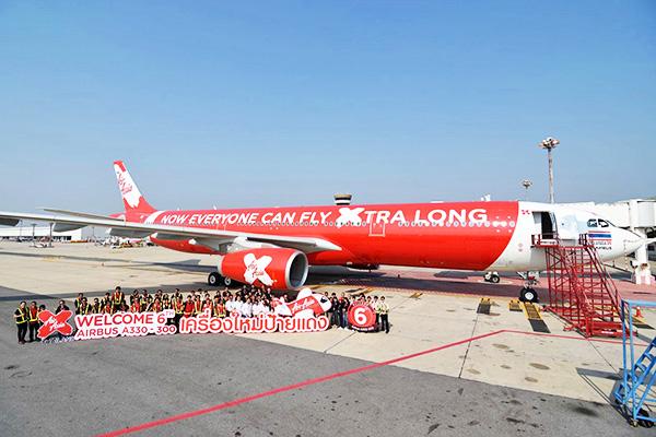 Thai Air Asia X používá na dálkové lety stroj Airbus A330-300. Foto: Thai Air Asia X