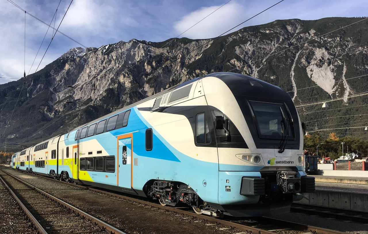Jednotky Stadler Kiss dopravce Westbahn. Foto: Attila Alföldi - Westbahn