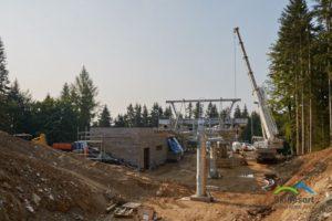 Stavba lanovky Hofmanky Express v roce 2015. Autor: Skiresort Černá Hora - Pec