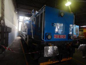 Hybridní posunovací lokomotiva  řady 218