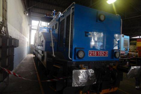 """Hybridní posunovací lokomotiva řady 218 """"Kobeko"""" Autor: Zdopravy.cz/Jan Šindelář"""