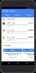 Google spustil v Česku vyhledávač letenek. Foto: Google