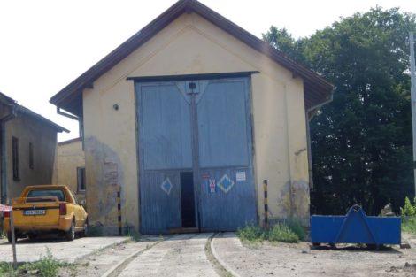 Křižíkovo depo v Táboře ještě během rekonstrukce. Autor: Zdopravy.cz/Jan Šindelář