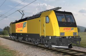 Vizualizace lokomotivy Traxx od společnosti Bombardier pro Regiojet. Foto: Regiojet