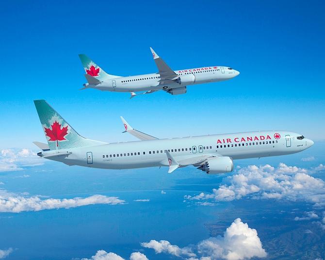 Letadla Boeing 737 MAX v nátěru Air Canada. Foto: Boeing