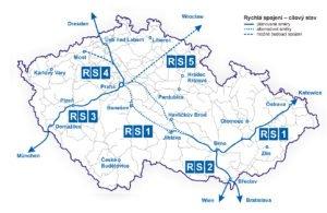 Mapa plánu rychlých spojení v Česku, foto: Ministerstvo dopravy