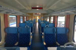 Interiér vozů Bdmpeer společnosti ZSSK. Foto: Josef Petrák