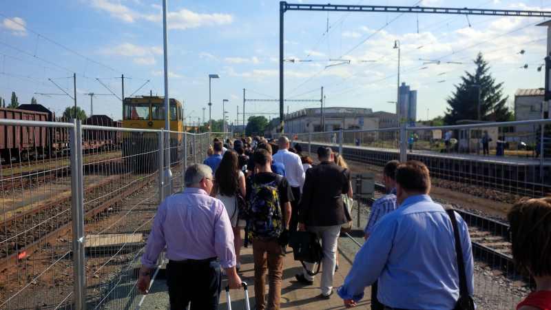 Provoz na dolním nádraží během výluky. Foto: Aleš Ondrůj