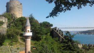 Historická pevnost Rumelihisari poblíž připravované lanovky. Foto: Metrostav
