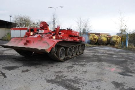 Záchranný tank hasičů SŽDC. Ilustrační foto. Autor: SŽDC