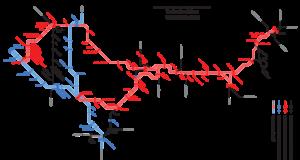 Plán na zrychlení vlaků Praha - Liberec, varianta s plně elektrizovaným provozem přes Lysou nad Labem.