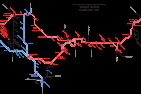 Plán na zrychlení vlaků Praha - Liberec, varianta s plně elektrizovaným provozem.