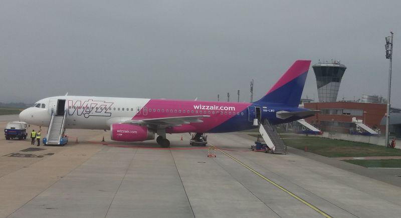Letadlo Wizz Airu v Brně. Autor: Zdopravy.cz/Jan Šindelář