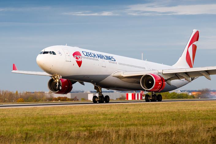 Airbus A330-330 v barvách Českých aerolinií. Foto: ČSA