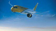 Bombardier CS100 v barvách Gulf Air. Foto: Bombardier