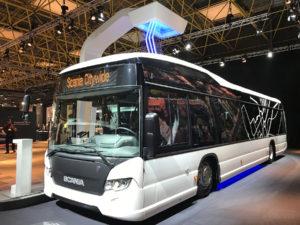 Elektrobus Scania Citywide na veletrhu Busworld, foto: Zdopravy.cz/Josef Petrák