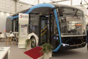 Elektrobus Sileo S12 na veletrhu Busworld, foto: Zdopravy.cz/Josef Petrák