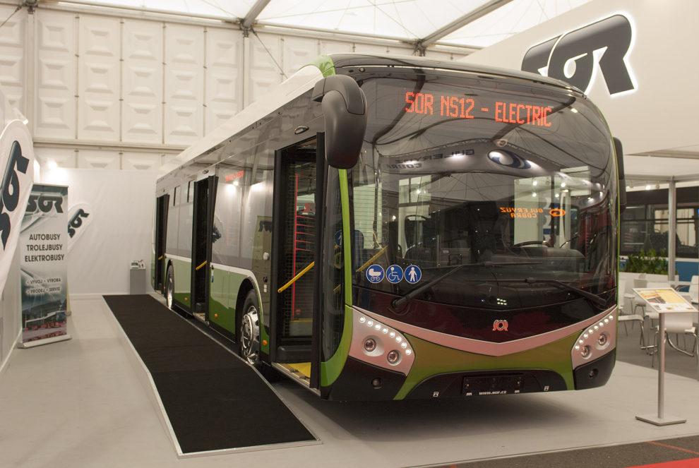 SOR NS12 electric na veletrhu Busworld, foto: Zdopravy.cz/Josef Petrák