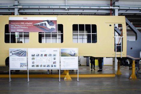 První svařená karoserie nových jednotek Talent 3 pro ÖBB. Foto: Bombardier