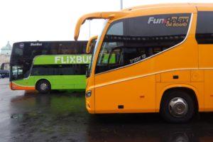 Scania Flixbusu a Scania Irizar RegioJetu. Kdo zůstane po cenové válce vpředu? Autor: Zdopravy.cz/Jan Šindelář