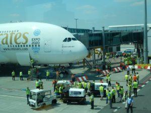 Letadlo A380 společnosti Emirates v Praze. Autor: Zdopravy.cz/Jan Šindelář