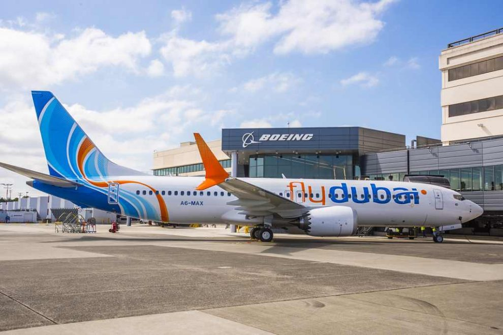 První Boeing 737 MAX 8 po předání u výrobce. Foto: flydubai