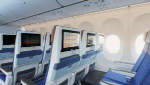 Ekonomická třída v novém Boeing 737 MAX 8. Foto: flydubai