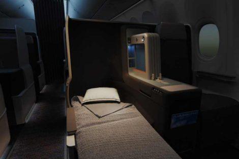 Plně rozložitelná sedačka byznys třídy. Foto: flydubai