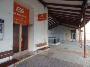 Pokladna GW Trainu ve Strakonicích. Autor: Zdopravy.cz/Jan Šindelář