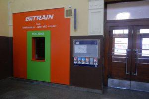 Pokladna GW Trainu na nádraží v Č. Budějovicích. Autor: Zdopravy.cz/Jan Šindelář
