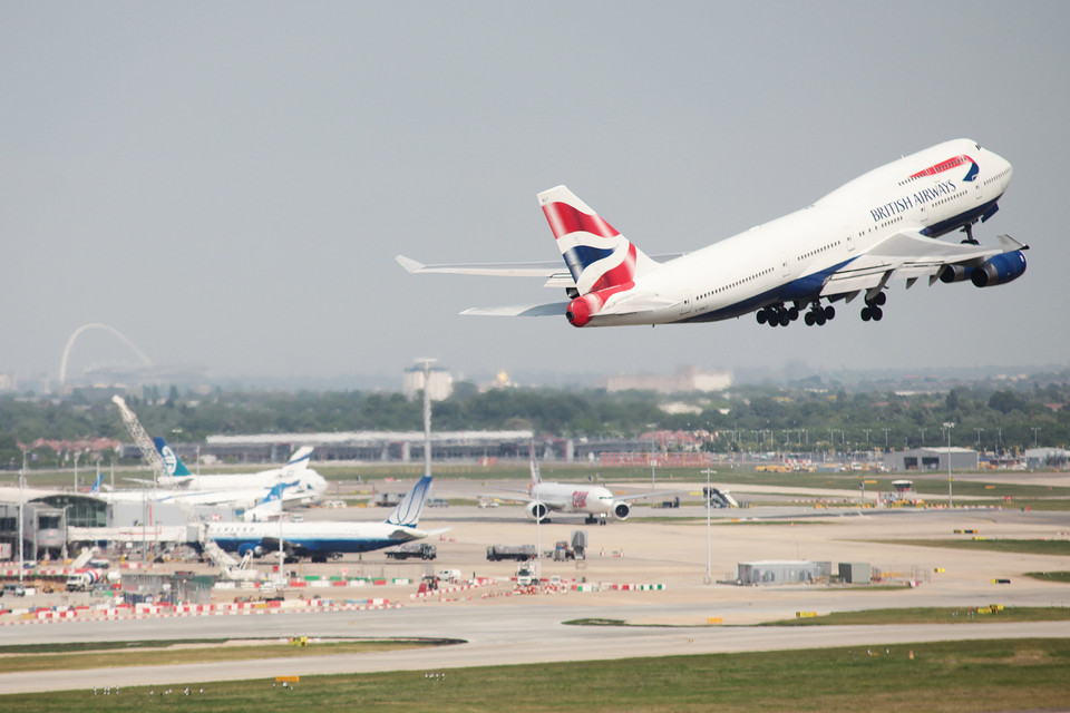 Boeing 747-400 British Airways při odletu z Londýna. Foto: British Airways