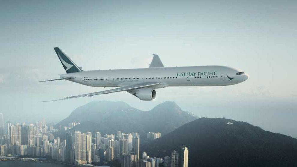 Boeing 777 v barvách Cathay Pacific v Hongkongu. Foto: Cathay Pacific