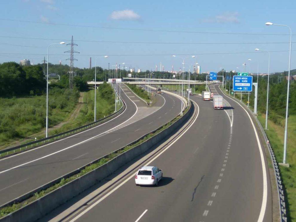 Dálnice D1 v Ostravě. Foto: Jan Sůra