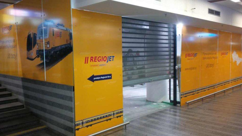 Vznikající třetí pobočka Regiojetu na hlavním nádraží v Praze: Foto: Regiojet