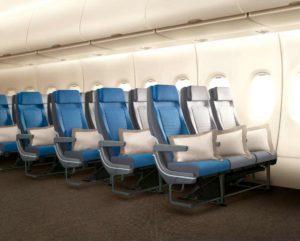 Nová podoba ekonomické třídy v A380. Celkem bude v letadle v této třídě 343 míst oproti stávajícím 399. Uspořádání bude 3-4-3. Foto: Singapore Airlines