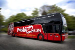 PolskiBus má ve flotile hlavně autobusy značky VahHool. Foto: PolskiBus