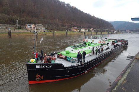Remorkér Beskydy v Děčíně. Autor: Zdopravy.cz/Jan Šindelář